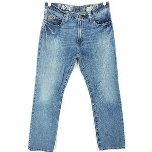 Ariat Jeans Low Boot Cut Medium Wash Measure 35x35